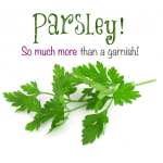 Parsleys are more than just a garnish